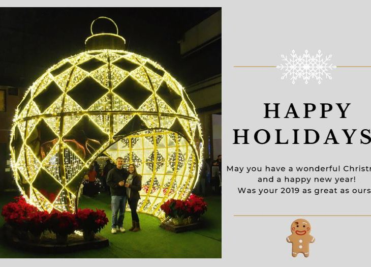 happy holidays from the traveling gingerbread