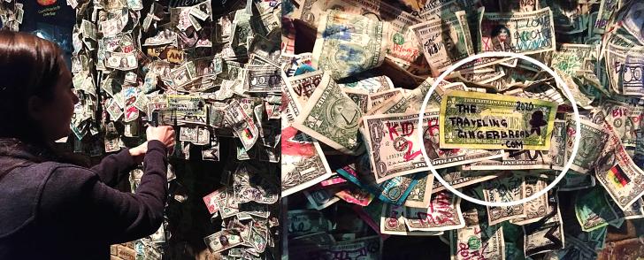dollar bills at The Griffon