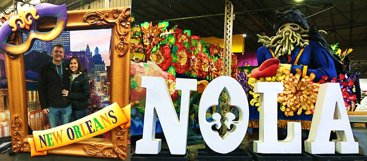 mardi gras world picture frame