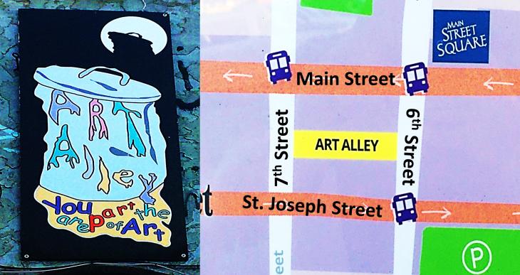 art alley map
