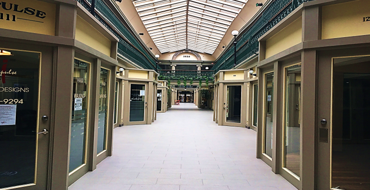 inside the providence arcade shopping mall