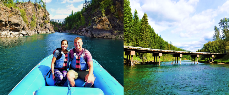scenic flathead river float in glacier