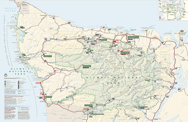 olympic national park trail map