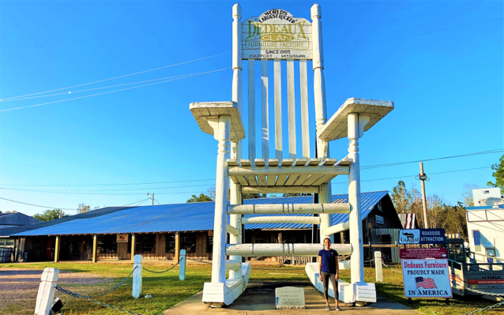 35 foot tall rocking chair