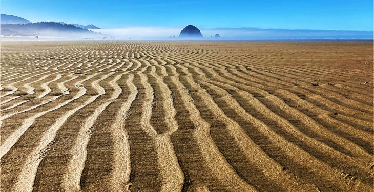 sand at cannon beach