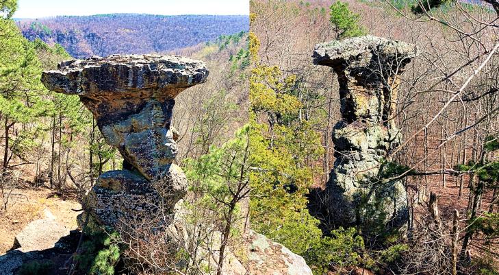 pedestal rock ozark national forest