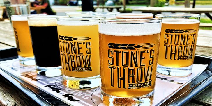 stone's throw brewing flight
