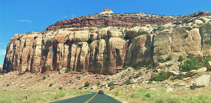 driving through bears ears national monument