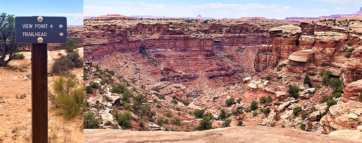 slick rock trail view point 4 canyonlands
