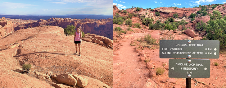 trail to upheaval dome view points