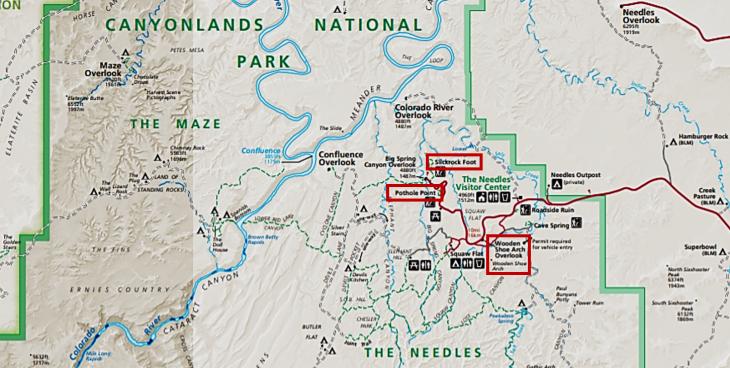 canyonlands the needles park map